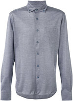Ermenegildo Zegna button-down long sleeved shirt - men - Cotton - 56