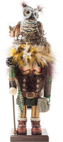 Kurt Adler 16 Hollywood Woodsman Nutcracker with Owl Hat