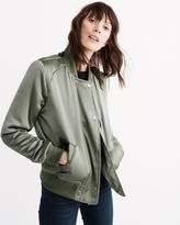 Abercrombie & Fitch Satin Bomber Jacket