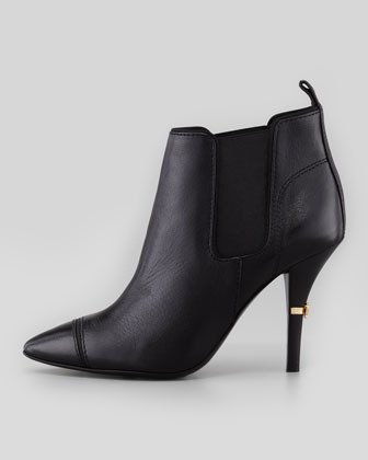 Tory Burch Bernice Pointy-Toe Ankle Bootie, Black