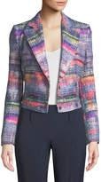 Emporio Armani Multi Hyper-Tweed Short Blazer