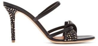 Malone Souliers Tasha Crystal-embellished Leather & Suede Sandals - Womens - Black
