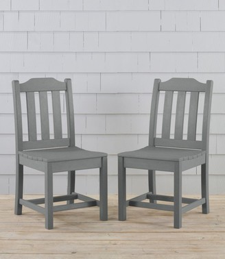 L.L. Bean All-Weather Armless Dining Chair, Set of Two