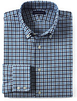 Classic Men's Traditional Fit Town & Country Buttondown Dress Shirt-Parisian Blue/Light True Navy