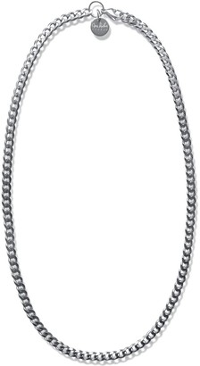 Opes Robur Silver Thin Cuban Chain Necklace