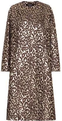 Rochas Oxford leopard brocade coat