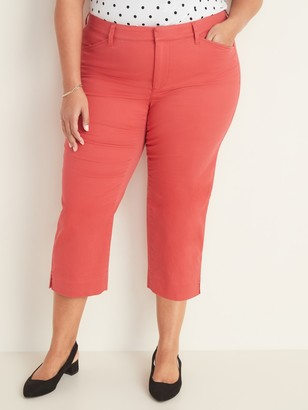 Old Navy Mid-Rise Secret-Slim Pockets Pixie Chino Plus-Size Capri Pants