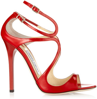 Jimmy Choo LANCE Red Patent Leather Strappy Sandals