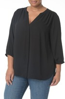 NYDJ Plus Size Women's High/low Blouse