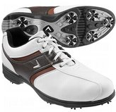 Callaway Men's Chev Comfort Saddle Golf Shoe - 14 Medium White/Brown