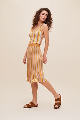 Suncoo Portia Striped-Knit Skirt