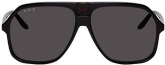 Gucci Black and Tortoiseshell GG0734S Sunglasses
