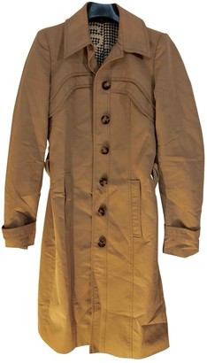 Gucci Camel Cotton Trench Coat for Women Vintage