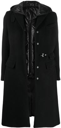 Fay Single-Breasted Hooded Coat