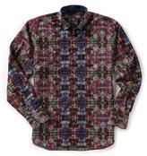 Visconti Paisley Jacquard Long-Sleeve Woven Shirt