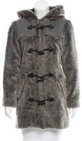 A.P.C. Hooded Faux Fur Coat