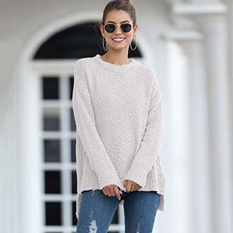 Jejhmy Knitwear Half-Neck Collar Long Sleeve Pullover Women M White Sweaters for Women Cardigan Knitted Sweater Outwear Jumper