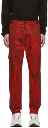 HUGO Red Camo Feeven Cargo Trousers