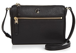 Kate Spade Small Zip-Front Leather Crossbody