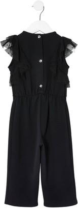 River Island Mini Girls Lace jumpsuit-Black