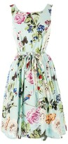 Rene Derhy Floral Print Sleeveless Dress