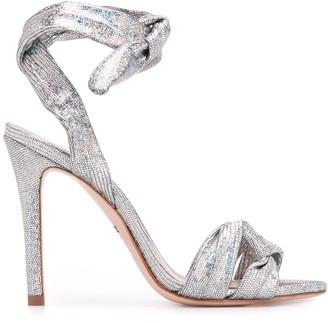 Schutz metallic high heel pumps