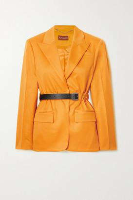 Altuzarra Lilium Belted Wool-blend Twill Blazer - Yellow