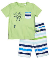 Petit Lem Baby Boys Fishy Fishy Two-Piece T-Shirt and Shorts Set