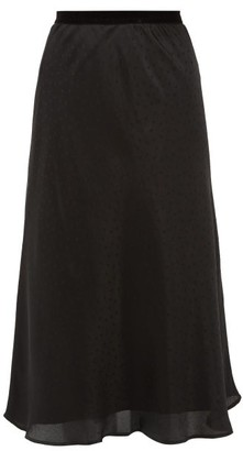 Mes Demoiselles Saloon Polka-dot Satin Skirt - Womens - Black
