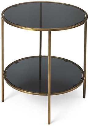 One Kings Lane Cavali Side Table - Antiqued Gold