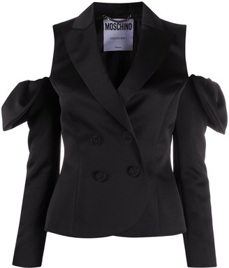 Moschino Cold Shoulder Double-Breasted Blazer