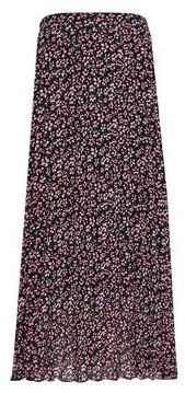 Dorothy Perkins Womens Multi Colour Floral Print Pleated Midi Skirt