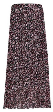 Dorothy Perkins Womens Multi Colour Floral Print Pleated Midi Skirt