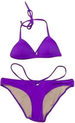 L'Agent by Agent Provocateur Purple Lycra Swimwear
