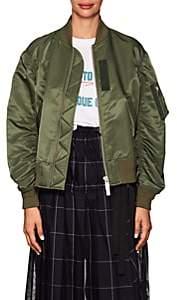 Sacai Women's Tech-Fabric Bomber Jacket - Khaki