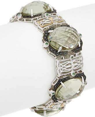 Phillip Gavriel 18K & Silver Green Amethyst Bracelet