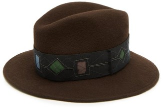 Albertus Swanepoel Argyle Felted-wool Fedora - Mens - Brown