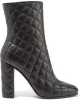 Gianvito Rossi Quilted Leather Boots - Black