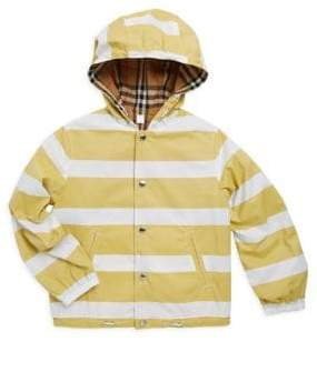 Burberry Little Boy's& Boy's Striped Hoodie - Yellow - Size 6 Months