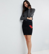 Noisy May Tall Skirt With Floral Embroidery