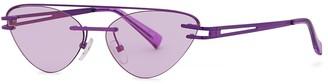 Le Specs X Adam Selman The Coupe Aviator-style Sunglasses