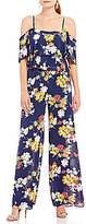 Laundry by Shelli Segal Floral Ruffle Jumpsuit