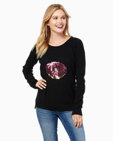 Charming charlie Sequined Donut Sweater