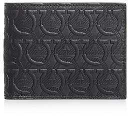Salvatore Ferragamo Gancini Embossed Leather Bi-Fold Wallet