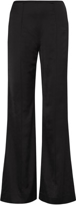 Elizabeth and James High-rise Satin Bootcut Pants