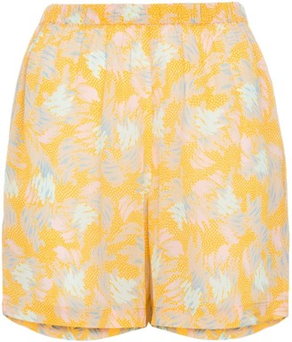 A Peace Treaty Yuna print crepe shorts