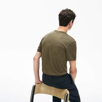 Lacoste Mens Regular Fit Pima Cotton Henley T-shirt