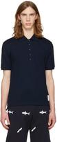Thom Browne Navy Pocket Polo