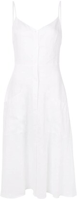 Reformation Parke buttoned midi-dress