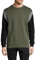 Zanerobe Splinter Crewneck Colorblock Sweatshirt